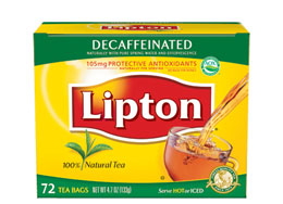 Lipton Decaf hot tea