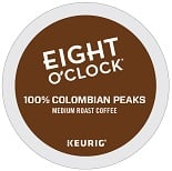 Eight O'Clock 100% Colombian K-Cups